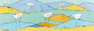 Marsh Egrets I by Phyllis Adams