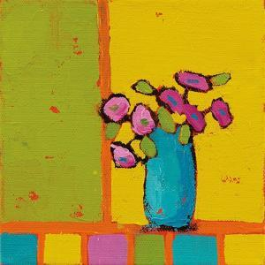 Turquoise Vase Bright by Phyllis Adams