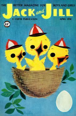 Baby Birds - Jack and Jill, April 1958 by Phyllis Gimour