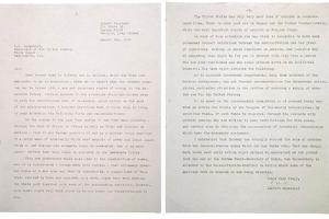 Physicist Albert Einstein's Letter to President Franklin Roosevelt, Aug. 2, 1939