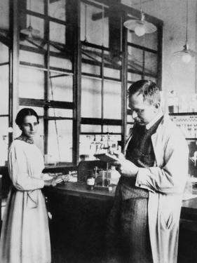 Physicist Lise Meitner and Radiochemist Otto Hahn in Berlin-Dahlem, Germany, 1913