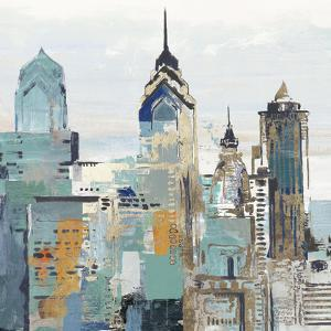 Teal City Ii by PI Creative Art