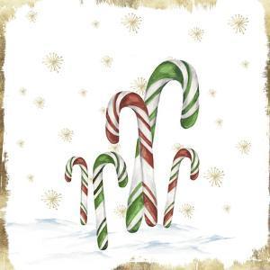 Snowy Candycanes I by PI Studio