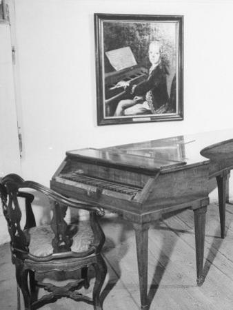 Piano on Which Composer Wolfgang A. Mozart Played from 1780 Until His Death in 1791