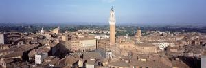 Piazza del Campo and Torre del Mangia from Duomo, Tuscany, Italy