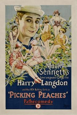 PICKING PEACHES, Harry Langdon with the 1924 Bathing Girls, 1924.