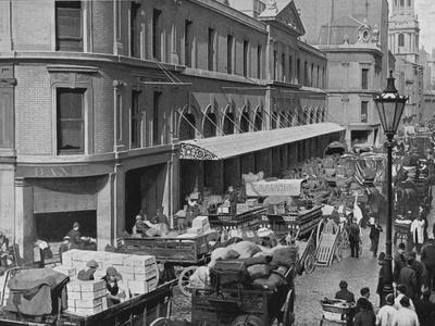 Billingsgate Market, City of London, c1900 (1911)