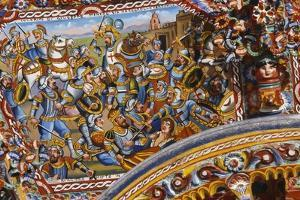 Pictorial Decoration on Sicilian Cart, Sicily, Italy, Detail