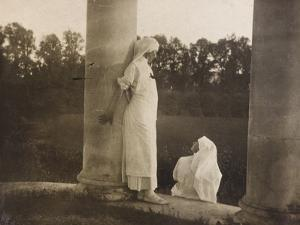 Pictures of War II: Red Cross Nurses Sitting in a Garden Near the Church of Santa Maria