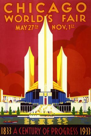"""Chicago World's Fair"" Vintage Travel Poster, 1933"