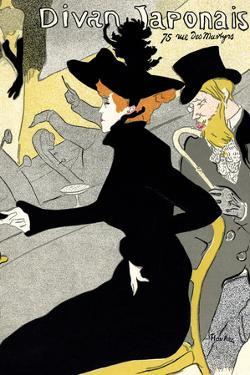 """""""Divan Japonais"""" Vintage French Lithograph Poster by Henri de Toulouse-Lautrec, 1893-1894 by Piddix"""