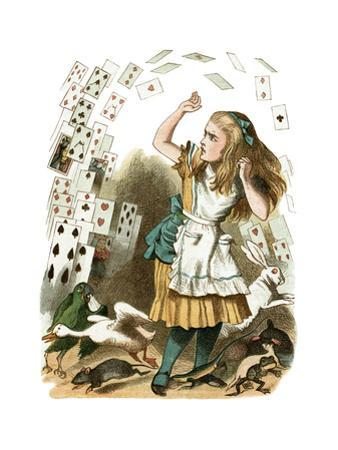 """""""Nothing But a Pack of Cards"""" Alice in Wonderland by John Tenniel by Piddix"""