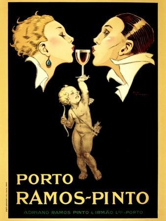 Porto Ramos-Pinto, Vintage French Advertisement Poster by Rene Vincent by Piddix
