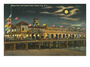 Pier and Concert Hall at Night, Ocean City, New Jersey