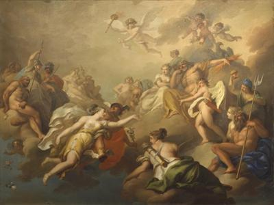 Venus and Psyche Among the Olympian Gods by Pier Antonio Novelli