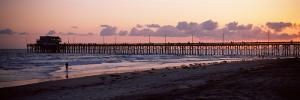 Pier in an Ocean, Newport Pier, Newport Beach, Orange County, California, USA