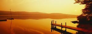 Pier, Pleasant Lake, New Hampshire, USA
