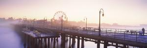 Pier with Ferris Wheel in the Background, Santa Monica Pier, Santa Monica, Los Angeles County, C...