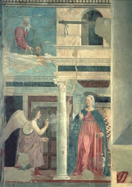 Annunciation, from the True Cross Cycle, Completed 1464 by Piero della Francesca