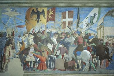 Detail from the Legend of the True Cross Showing Battle of Heraclius I Against Chosroes II
