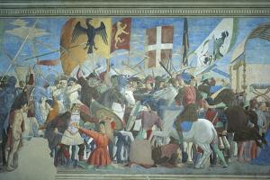 Detail from the Legend of the True Cross Showing Battle of Heraclius I Against Chosroes II by Piero della Francesca