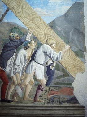 Detail from the Legend of the True Cross Showing Transport of Sacred Wood by Piero della Francesca
