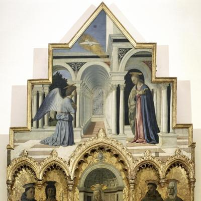 Detail of the Upper Part of the Annunciation