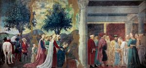 Legend of the Cross: Solomon & Sheba by Piero della Francesca