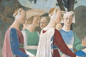 Legend of the Cross: Solomon & Sheba by Piero della Francesca