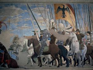 Legend of the Cross: Victory of Constantine by Piero della Francesca