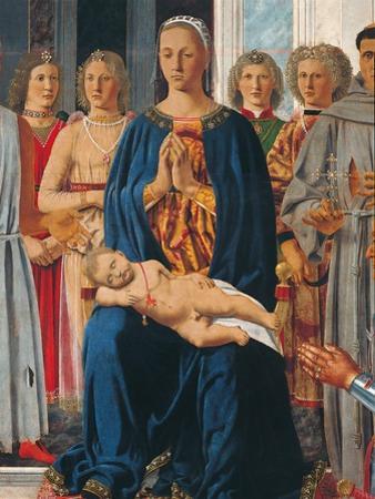 Montefeltro Altarpiece, Piero della Francesca, 1472-74. Brera Gallery, Milan, Italy Detail.