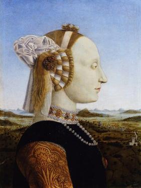 Portrait of Battista Sforza, 1472 by Piero della Francesca