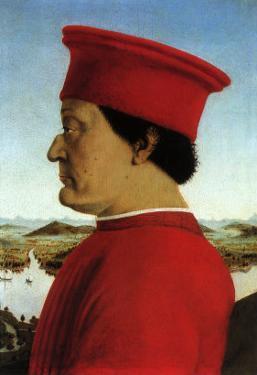 Portrait of Duke, 1465 by Piero della Francesca