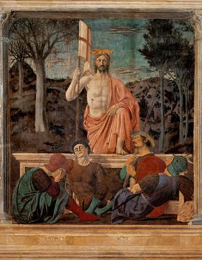 Resurrection of Christ,  by Piero della Francesca, 1450-63. Palazzo del Comune, Arezzo, Italy by Piero della Francesca