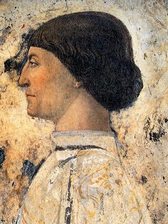 Sigismondo Pandolfo Malatesta (Detail of Fresco in Tempio Malatestiano, Rimin), 1451