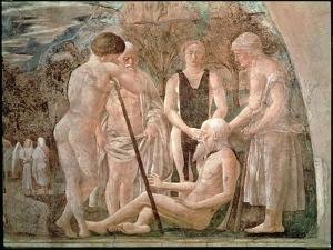 The Death of Adam, from the Legend of the True Cross Cycle, Completed 1464 by Piero della Francesca