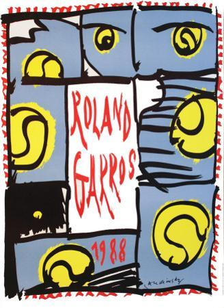 Roland Garros, 1988 by Pierre Alechinsky