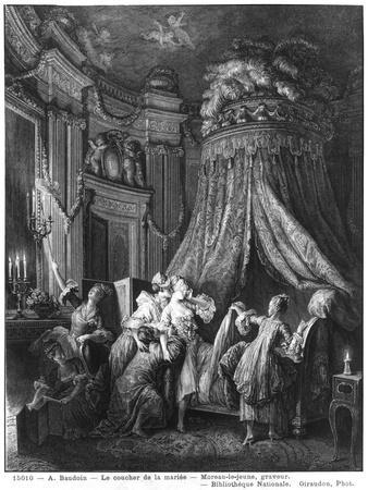 The Bride's Going-To-Bed Ceremony, Engraved from Jean-Michel Moreau, Said the Young