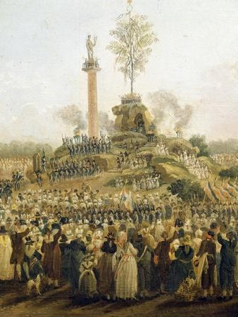 Detail from the Festival of the Supreme Being at the Champ De Mars, June 8, 1794