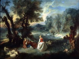 Pastoral Scene, 1730S by Pierre-Antoine Quillard