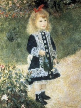 A Girl with a Watering Can by Pierre-Auguste Renoir