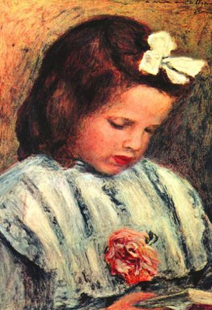 Pierre Auguste Renoir A Reading Girl Art Print Poster