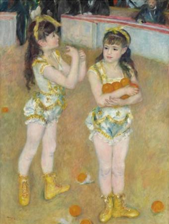 Acrobats at the Cirque Fernando (Francisca and Angelina Wartenberg) by Pierre-Auguste Renoir by Pierre-Auguste Renoir