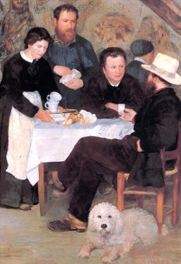 Pierre Auguste Renoir At the Inn of Mother Anthony Art Print Poster