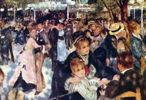Pierre Auguste Renoir Ball at the Moulin Galette Art Print Poster