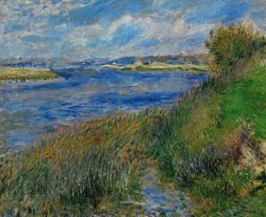 Banks of the Seine River at Champrosay, c.1876 by Pierre-Auguste Renoir