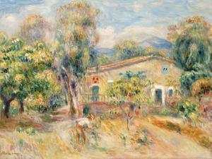 Collettes Farmhouse, Cagnes, 1910 by Pierre-Auguste Renoir