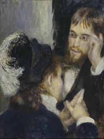 Conversation with the Gardener, C.1870 by Pierre Auguste Renoir