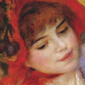 Dance at Bougival (detail) by Pierre-Auguste Renoir