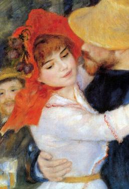 Pierre Auguste Renoir Dance in Bougival Detail Art Print Poster